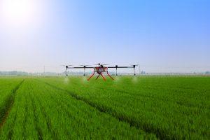drone mettant un pesticide
