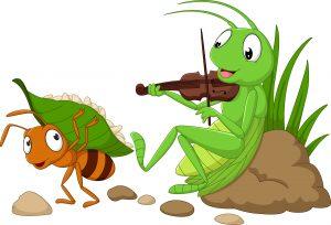 une cigale et une fourmis