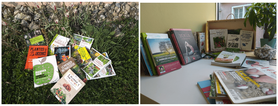Différents livres sur la permaculture