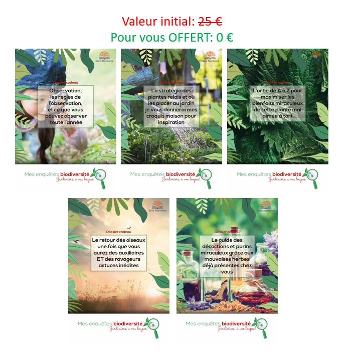 5 dossiers numériques mes enquêtes biodiversités