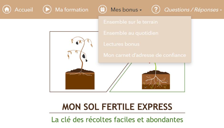 visuel formation sol fertile express screenshot
